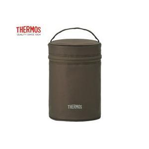 サーモス THERMOS フードコンテナーカバー REC-001 ブラウン ポーチのみのお届けとなります|tsubame