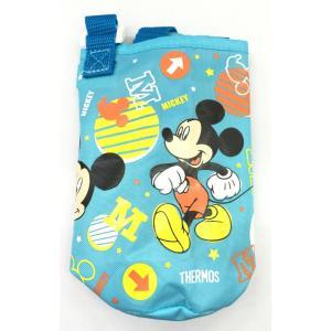 サーモス THERMOS 水筒カバー FHL-400Fポーチ ライトブルー ミッキーマウス柄|tsubame