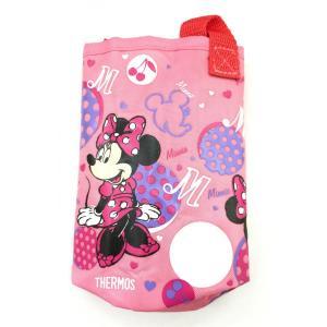 サーモス THERMOS 水筒カバー FHL-400Fポーチ ピンク ミニーマウス柄|tsubame
