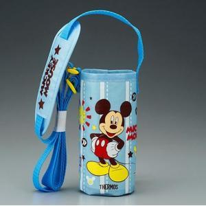 サーモス 水筒カバー FFI-400Fポーチ スカイブルー ミッキーマウス|tsubame