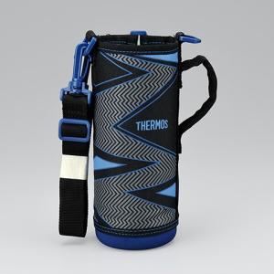 サーモス THERMOS 水筒カバー FFR-804WFハンディポーチ イナズマブラック|tsubame