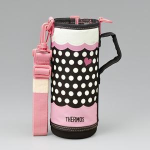 サーモス THERMOS 水筒カバー FFR-804WFハンディポーチ ドットピンク|tsubame