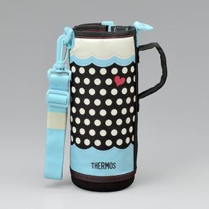 サーモス THERMOS 水筒カバー FFR-1004WFハンディポーチ ドットブルー|tsubame