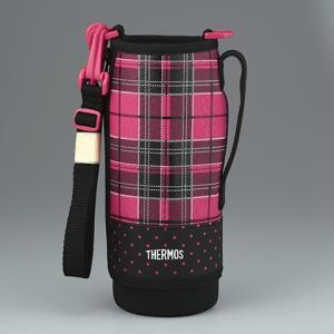 サーモス THERMOS 水筒 カバー FFZ-1001Fハンディポーチ ピンクチェック|tsubame