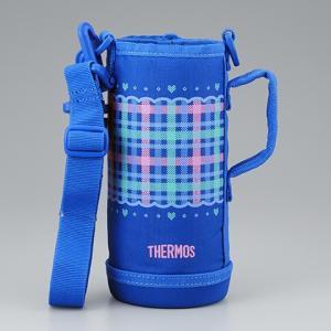 サーモス THERMOS 水筒カバー FHO-800WFハンディポーチ チェックブルー|tsubame