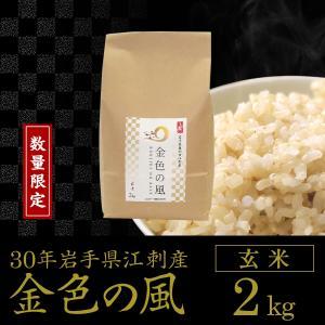 【数量限定】30年産 金色の風【玄米2kg】岩手県奥州市江刺産|tsubuyori-noujyou