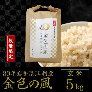 【数量限定】30年産 金色の風【玄米5kg】岩手県奥州市江刺産|tsubuyori-noujyou