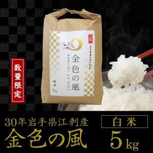 【数量限定】30年産 金色の風【白米5kg】岩手県奥州市江刺産|tsubuyori-noujyou