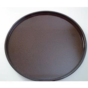 丸浅盆 8.5寸 ななこ塗黒上|tsugaru-ishioka