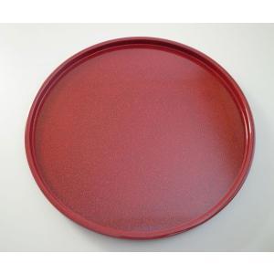 丸浅盆 8.5寸 ななこ塗赤上|tsugaru-ishioka