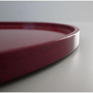 丸浅盆 8.5寸 ななこ塗赤上|tsugaru-ishioka|02
