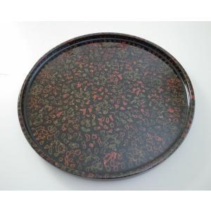 丸浅盆 8.5寸 唐塗呂上|tsugaru-ishioka