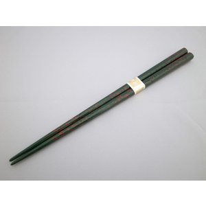 箸 大 唐塗緑上 tsugaru-ishioka