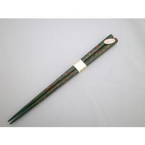 すべらない箸 中 唐塗緑上|tsugaru-ishioka