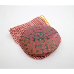 手鏡 巾着付 唐塗赤上|tsugaru-ishioka