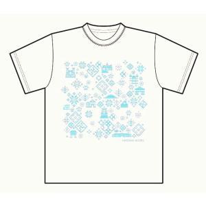 オリジナルTシャツ 白 こぎん刺し模様 弘前|tsugaru-ishioka