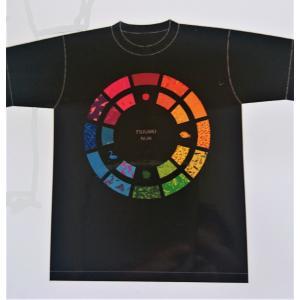 オリジナルTシャツ 黒 津軽塗模様 サークル|tsugaru-ishioka