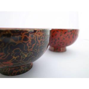 夫婦汁椀 木製 唐塗呂上・赤上 tsugaru-ishioka 02