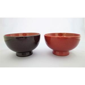 夫婦汁椀 木製 ななこ塗黒上・赤上 tsugaru-ishioka