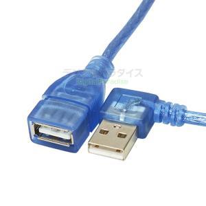 USB2.0(メス)-USB2.0(オス)左L型延長ケーブル/マウス/キーボード/ドライブ/プリンタ...