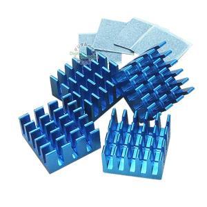 冷却用ヒートシンク 15x15x8mm 4個入り  【製品特徴】 ●アルミ製ヒートシンク ●熱伝導性...