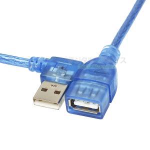 USB2.0(メス)-USB2.0(オス)右L型延長ケーブル/マウス/キーボード/ドライブ/プリンタ...