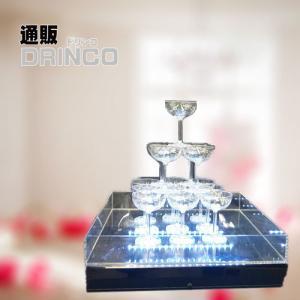 ( レンタル )シャンパンタワー 3段 *LED照明付き* (往復送料込)