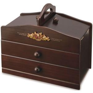 裁縫箱 ソーイングボックス 木製 アンティーク調裁縫道具箱 日本製 tsuhantown 02
