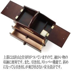 裁縫箱 ソーイングボックス 木製 アンティーク調裁縫道具箱 日本製 tsuhantown 04