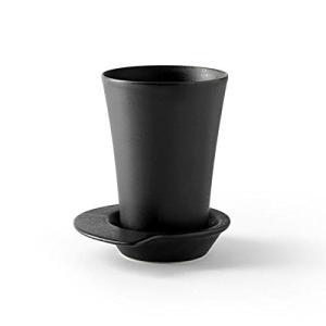 Spin マグ&ソーサー ブラック ストーン DESIGN HOUSE stockholm デザインハウスストックホルム|tsujimotocoffee