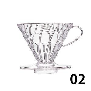 ハリオV60透過 コーヒードリッパー02クリア(1~4杯用) 珈琲 tsujimotocoffee