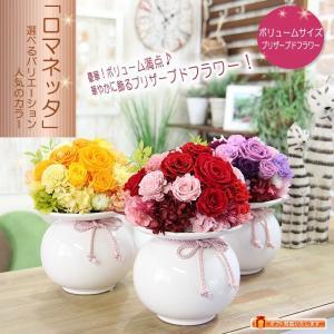 母の日 花 プレゼント ギフト プリザーブドフラワー 花のボリューム満点商品 ロマネッタ  誕生日  送料無料|tsukaguchi