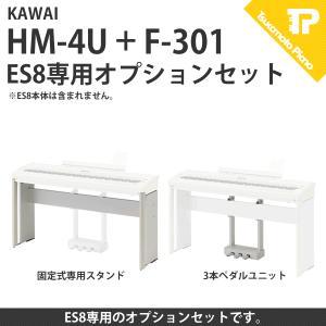 ES8 固定式専用スタンド HM-4U 3本ペダルユニット F-301 セット|tsukamoto-piano