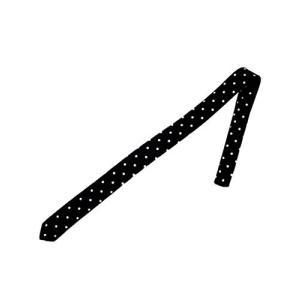(エイト) 8(eight)水玉柄&ストライプ細ネクタイスリムタイ ブラック ドット柄|tsuki-no-ginka
