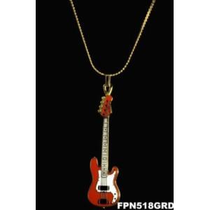 フェンダー ベース ネックレス NECKLACE Fender 1951 Precision Bass (赤)|tsuki-no-ginka