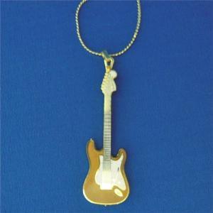 フェンダー ストラトキャスター ネックレス ゴールド Fender Stratocaster Necklace 520 (ゴールド)|tsuki-no-ginka