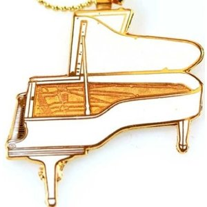 ハンブルク・スタインウェイ グランドピアノ ネックレス 白 Hamburg Steinway Piano Necklace 529 (White)|tsuki-no-ginka
