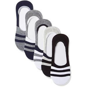メンズ 靴下 フットカバー ソックス スニーカーソックス ショートソックス 浅履き くるぶし 滑り止め付き 抗菌 除臭 5足組|tsuki-no-ginka