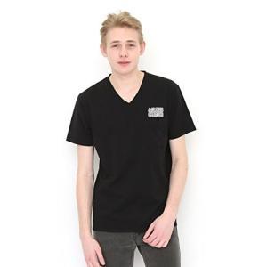 グラニフ  graniph コラボレーション Tシャツ アーキグラムロゴ  アーキグラムVネック Tシャツ   ブラック  S  g01   g14|tsuki-no-ginka