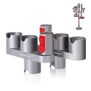 LANMU for Dyson 壁掛けブラケット Docking station ダイソン収納ホルダー 2個 for Dyson V7 V8 V10|tsuki-no-ginka