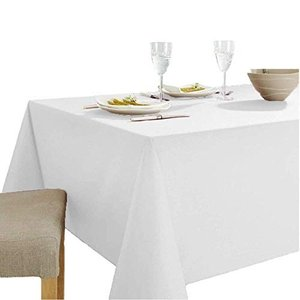 shopdp 白無地 テーブルクロス 食卓カバー 綿100% 長方形 北欧 田園風  140x100cm|tsuki-no-ginka