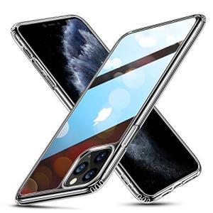 ESR iPhone 11 Pro Max ケース ガラスケース 強化ガラス+TPUバンパーアイホン...