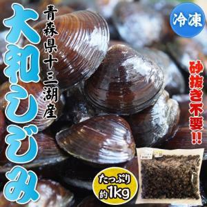 しじみ シジミ 蜆 青森県十三湖産 大和しじみ 約1キロ 冷凍同梱可能|tsukiji-ichiba2