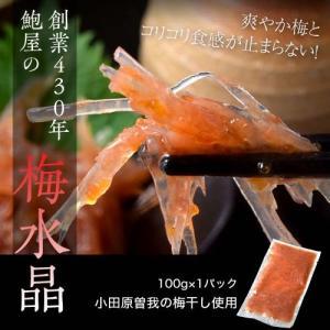 創業430年 鮑屋の梅水晶 100g 1袋 小田原 曽我の梅肉使用 おつまみ 肴 うめ ウメ 冷凍|tsukiji-ichiba2