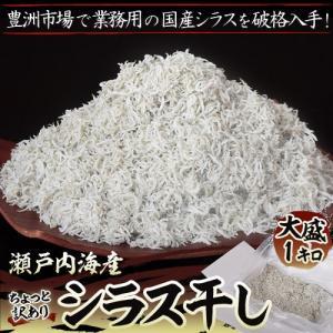 シラス しらす 瀬戸内海産 訳あり シラス干し 約1キロ ※冷凍 送料無料|tsukiji-ichiba2