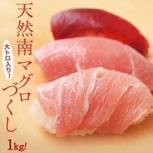 まぐろ マグロ 鮪 天然 南マグロ インドマグロ 大トロ 中トロ 赤身 合計 1kg 冷凍 同梱不可 送料無料|tsukiji-ichiba2