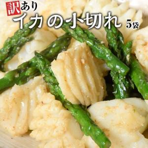 いか イカ 訳あり イカの小切れ アカイカ端材・切り落とし 1キロ [200g×5袋] 海鮮 魚介 下処理済み 冷凍 冷凍同梱可能|tsukiji-ichiba2