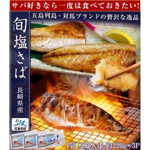 魚 さば サバ 鯖 送料無料 長崎県産 旬サバ ときさば 旬さば 塩さば 1袋2枚入り 約220g×3P 干物 焼き魚 おかず 冷凍 同梱不可|tsukiji-ichiba2|02