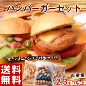 パン ハンバーガーセット 3品 約2.3kg ハンバーグ タラフリッター バンズ 冷凍 同梱不可 送料無料