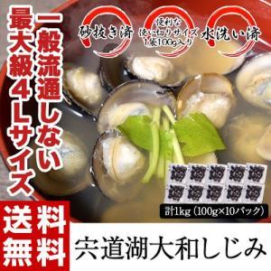しじみ シジミ 蜆 宍道湖産 大和しじみ 100g×10袋 計1kg 大粒 砂抜き済 水洗い済 送料無料|tsukiji-ichiba2